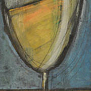 Glass Of White Poster by Tim Nyberg