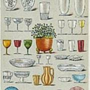 Glassware, Historical Artwork Poster by Mid-manhattan Picture Collectionglassnew York Public Library
