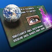 Global Id Card Poster by Victor Habbick Visions