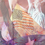 God Bless The Usa Poster by Cheryl Young