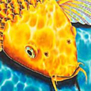 Golden Koi Poster by Daniel Jean-Baptiste
