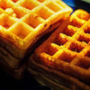Golden Waffles Poster by Rebecca Sherman