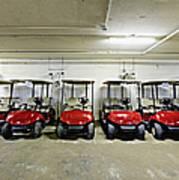 Golf Cart Parking Garage Poster by Skip Nall