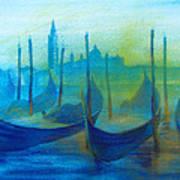 Gondolas Poster by Khromykh Natalia