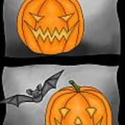 Good Pumpkin - Bad Pumpkin Poster by Claudia Pflicke