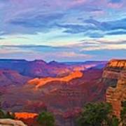 Grand Canyon Grand Sky Poster by Heidi Smith