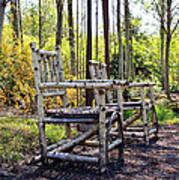 Grandmas Country Chairs Poster by Athena Mckinzie
