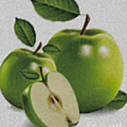Green Apples Poster by Cheryl Young