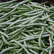 Green Beans Poster by David Buffington