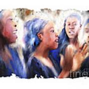 Haitian Chorus Singers Poster by Bob Salo
