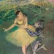 Harlequin And Colombine Poster by Edgar Degas