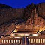 Hatshepsuts Mortuary Temple Rises Poster by Kenneth Garrett