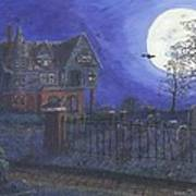 Haunted House Poster by Lori  Theim-Busch