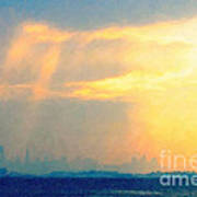 Hazy Light Over San Francisco Poster by Wingsdomain Art and Photography