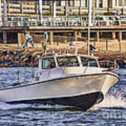 Hdr Boat Boats Sea Ocean Fishing Jetty Boadwalk Photos Pictures Photography Scenic Landscape Pics Poster by Pictures HDR