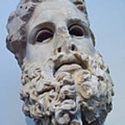 Head Of Zeus At The Acropolis Museum Poster by Richard Nowitz