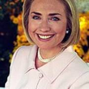 Hillary Rodham Clinton In A White House Poster by Everett