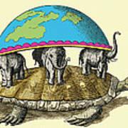 Hindu Cosmological Myth Poster by Sheila Terry