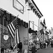 Historic Niles District In California Near Fremont . Main Street . Niles Boulevard . 7d10693 . Bw Poster by Wingsdomain Art and Photography