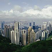 Hong Kong Island And The Bay Poster by Jason Edwards