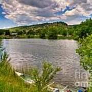 Horsetooth Reservoir Summer Scene Poster by Harry Strharsky