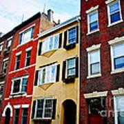 Houses In Boston Poster by Elena Elisseeva