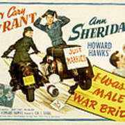 I Was A Male War Bride, Cary Grant, Ann Poster by Everett