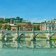 Il Fiumi Tevere Roma Poster by Richard Harpum