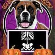I'm Just A Lil' Spooky Boxer Poster by Renae Laughner