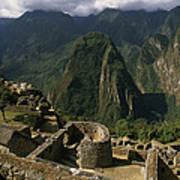 Inca Ruins At Machu Picchu Are Biggest Poster by Gordon Wiltsie