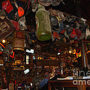 Inside The Bar In Luckenbach Tx Poster by Susanne Van Hulst