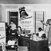 Interior View Of Naacp Branch Office Poster by Everett