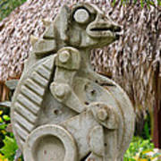 Intriguing Taino Sculpture Poster by Karen Lee Ensley