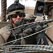 Iraqi And U.s. Soldiers Patrol The Al Poster by Stocktrek Images