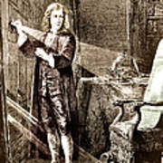 Isaac Newton Ray Of Light Poster by Science Source
