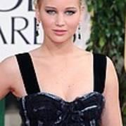 Jennifer Lawrence Wearing A Louis Poster by Everett