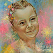 Joana's Portrait Poster by Karina Llergo