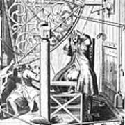 Johannes Hevelius And His Assistant Poster by Science Source