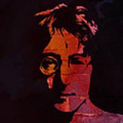 John Lennon Watercolor Poster by Steve K