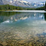 Johnson Lake Rocks Poster by Adam Pender
