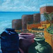 Juju Jars - Cancun Poster by Lorraine McFarland