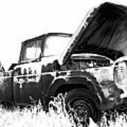 Junkyard Pickup Poster by Matthew Angelo