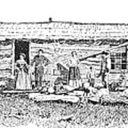 Kansas: Early House, 1854 Poster by Granger