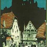 Kaysersberg Alsace Poster by Georgia Fowler