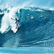 Kelly Slater At Pipeline Masters Contest Poster by Paul Topp