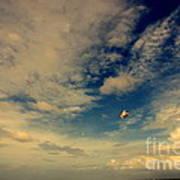 Kite At Folly Beach Near Charleston Sc Poster by Susanne Van Hulst