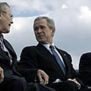 L To R Sec. Of Defense Donald Rumsfeld Poster by Everett