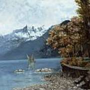 Lake Leman Poster by Gustave Courbet