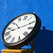 Large Clock On Yellow Chair Poster by Garry Gay