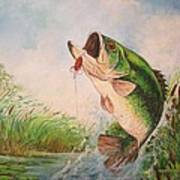 Largemouth Bass Poster by Jose Lugo